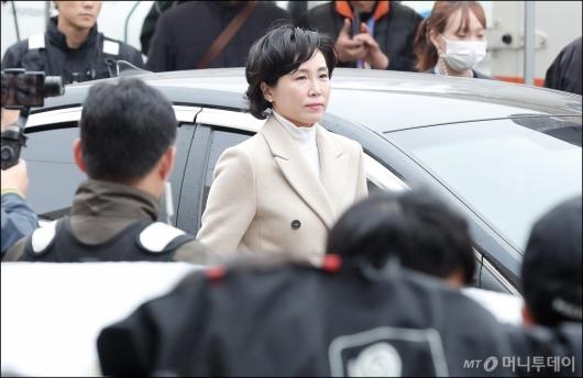 [사진]검찰 도착한 이재명 지사 부인 김혜경씨