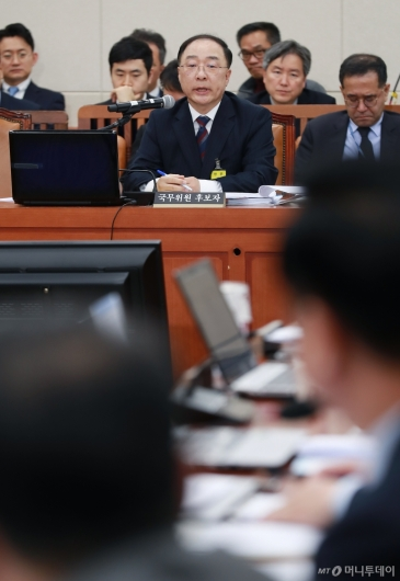 [사진]홍남기 경제부총리 후보자 인사청문회 개최