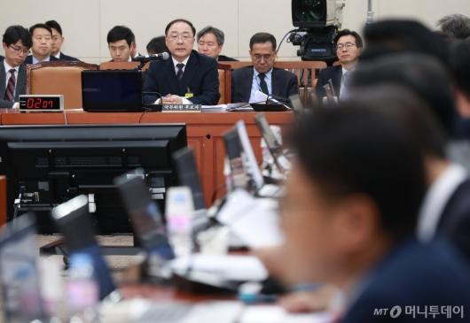 [사진]홍남기 경제부총리 후보자 인사청문회