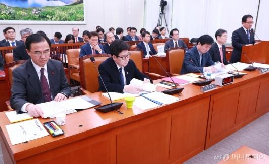 [사진]남북경협특위 출석한 관계부처 장·차관들
