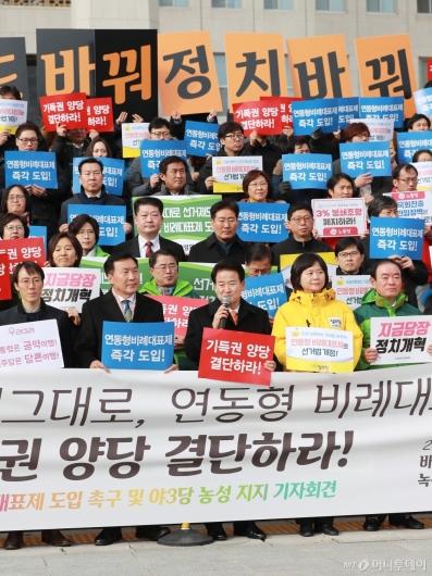 [사진]연동형 비례대표제 쟁취 정치개혁공동행동 기자회견