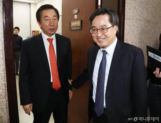 [사진]김성태 원내대표 찾은 김동연 경제부총리