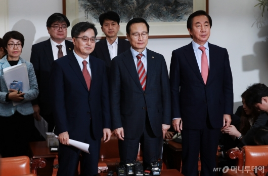 [사진]민주당-한국당, 2019년도 예산안 합의