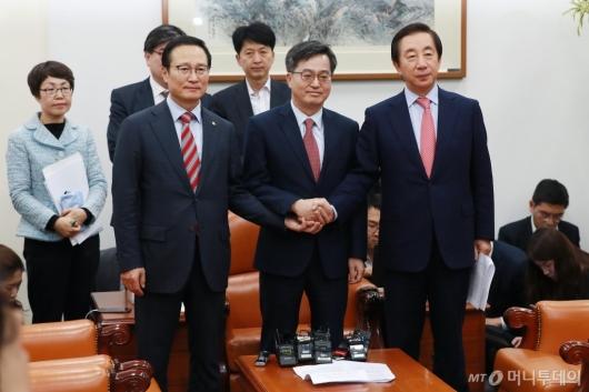 [사진]더불어민주당-자유한국당, 2019년도 예산안 합의