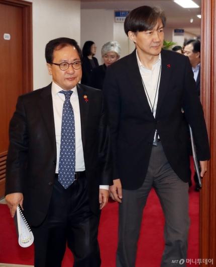 [사진]국무회의 참석하는 유영민 장관-조국 민정수석