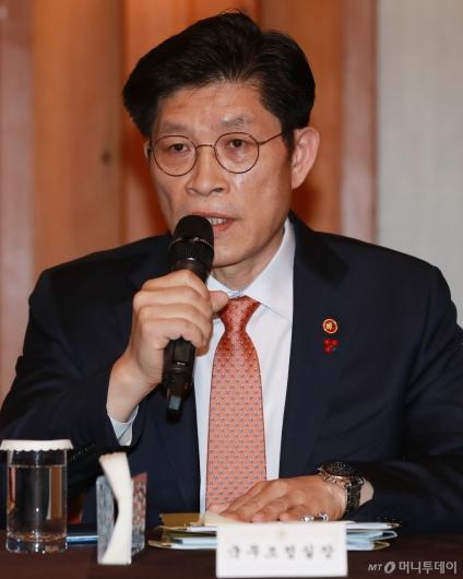 [사진]고위당정청 참석한 노형욱 국무조정실장
