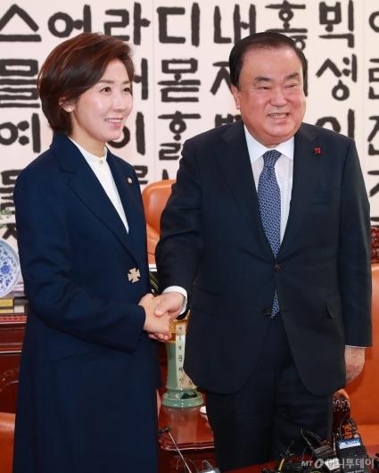 [사진]나경원 자유한국당 신임 원내대표, 문희상 국회의장 예방