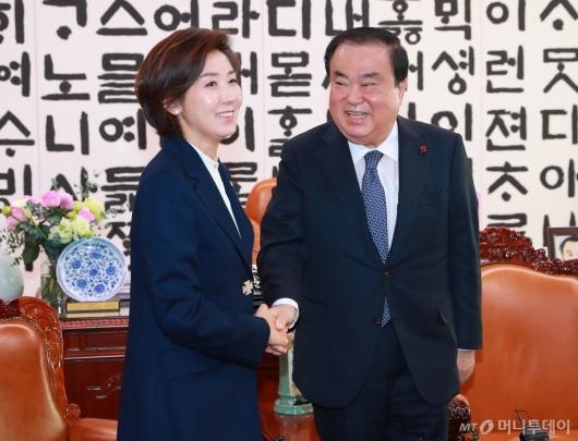 [사진]문희상 의장 예방한 나경원 자유한국당 신임 원내대표