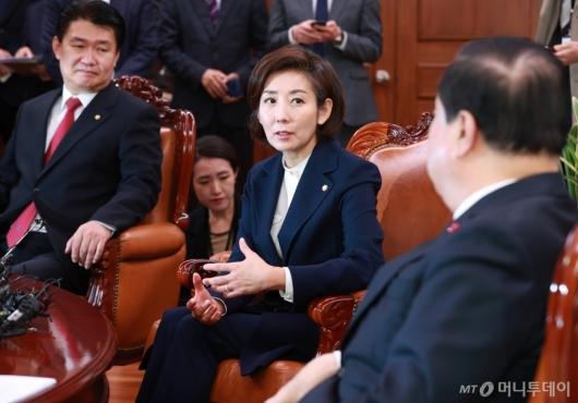 [사진]문희상 의장 예방한 나경원 신임 원내대표