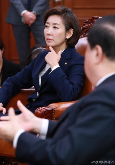 [사진]국회의장 예방한 나경원 자유한국당 신임 원내대표