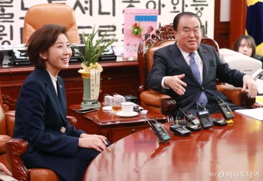 [사진]나경원 자유한국당 신임 원내대표, 문희상 의장 예방