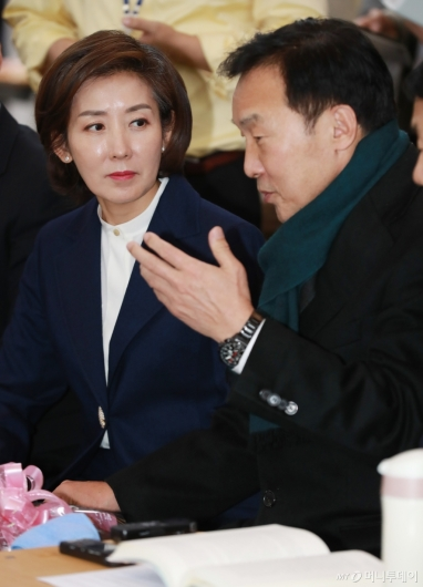 [사진]나경원, 단식 7일차 손학규 대표 예방