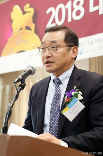 [사진]축사하는 원승연 금감원 부원장
