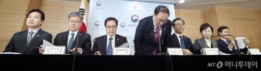 [사진]브리핑 마친 홍남기 부총리