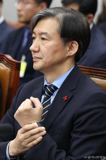 [사진]국회 운영위 출석한 조국 민정수석