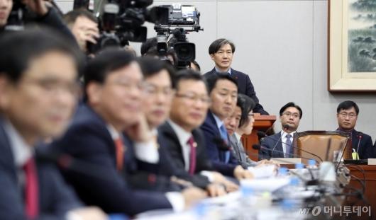 [사진]업무보고하는 조국 청와대 민정수석