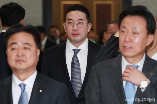 [사진]文대통령 신년회 참석한 구광모 LG 회장