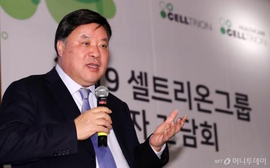 [사진]인사말 전하는 서정진 셀트리온그룹 회장