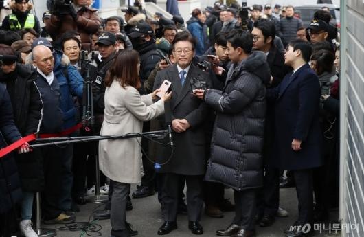 [사진]성남지원 출석한 이재명 지사