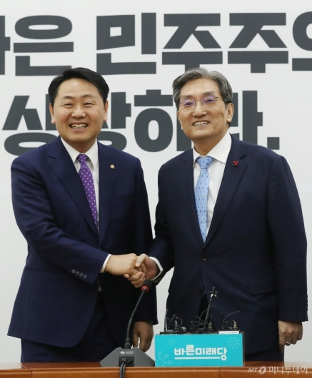 [사진]김관영 원내대표 찾은 노영민 비서실장
