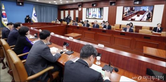 [사진]'서울-세종 영상 국정현안점검조정회의'