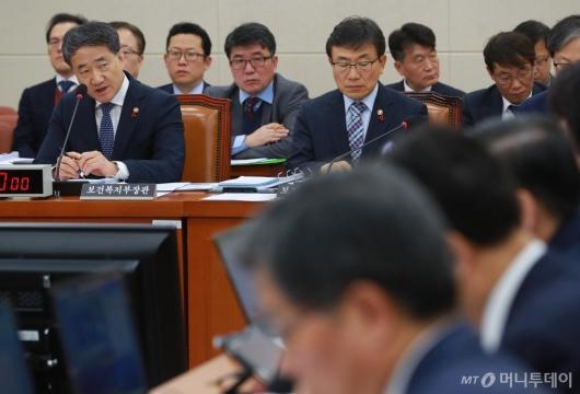 [사진]복지위 전체회의 출석한 박능후 장관