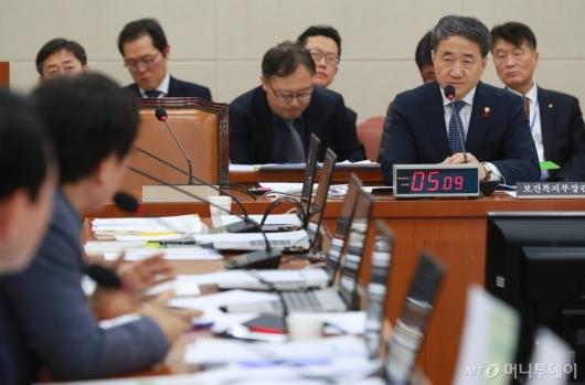 [사진]보건복지위원회 전체회의 출석한 박능후 장관