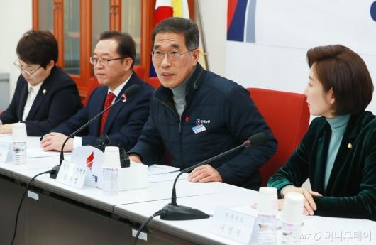 [사진]자유한국당 찾은 김영주 한국노총 위원장