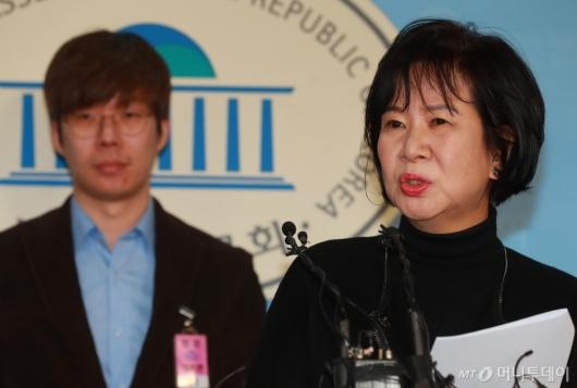 [사진]빙상계 성폭력 피해자 추가 폭로하는 손혜원 의원