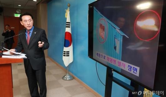 [사진]'용산참사 10년' 강제진압 정당성 주장하는 김석기