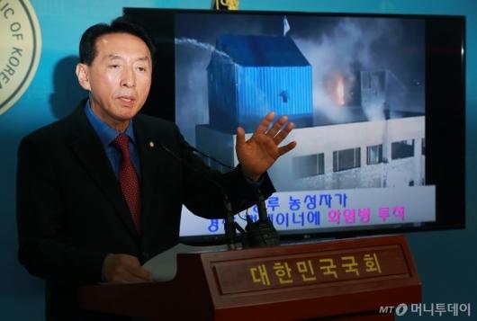 [사진]김석기 '용산참사는 시위대 탓'