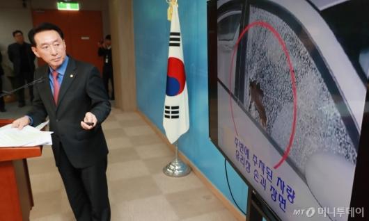 [사진]김석기 '용산참사, 시위대 탓...광우병 촛불도 조사해야'