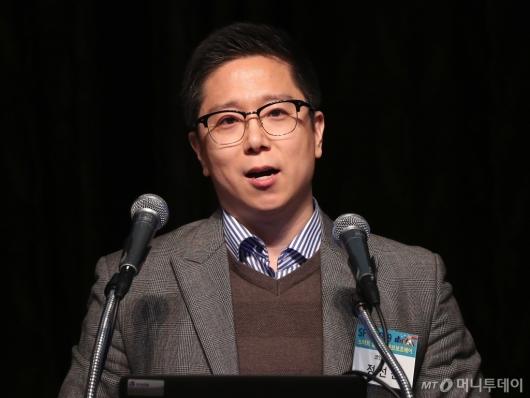 [사진]'SFIS 2019' 기조연설하는 정선진 이사