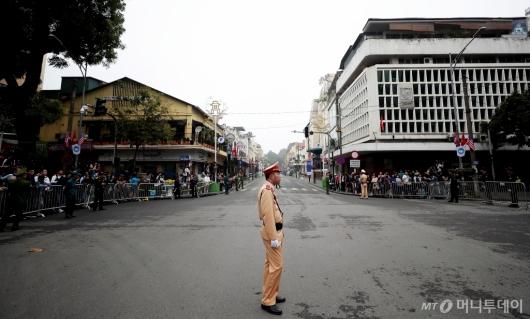 [사진]'하노이 북·미 정상회담' 도로 통제