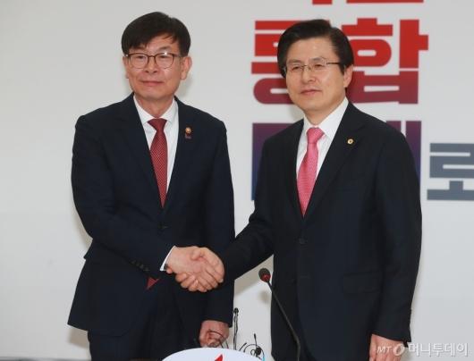 [사진]황교안 대표 찾은 김상조 공정위원장