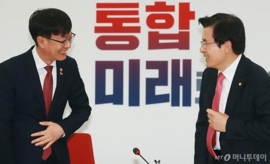 [사진]황교안 대표 예방한 김상조 공정위원장