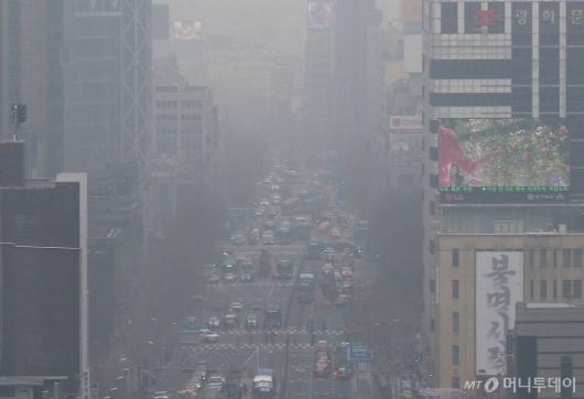 [사진]미세먼지 공습한 서울