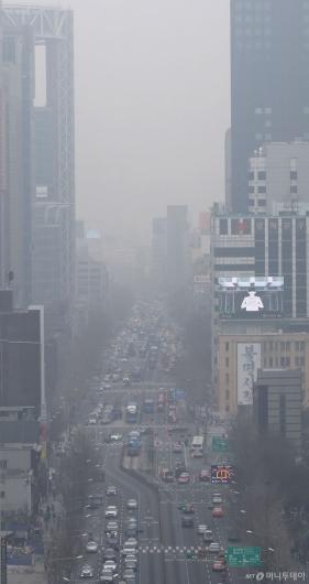 [사진]심각한 미세먼지