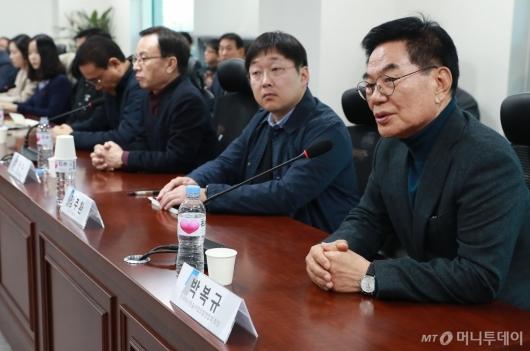 [사진]모두발언하는 박복규 택시조합연합회장