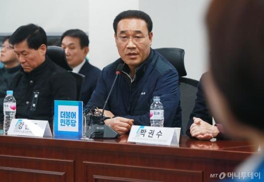 [사진]발언하는 강신표 택시노조위원장