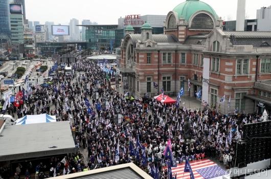 [사진]박근혜 전 대통령 탄핵 2년에 열린 태극기집회