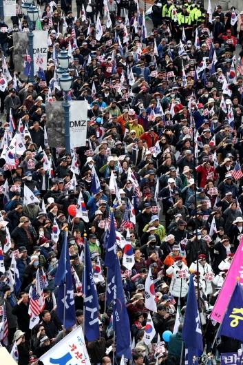 [사진]박근혜 전 대통령 탄핵 2년 집회