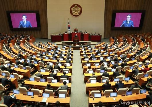 [사진]국회 본회의 교섭단체 대표연설