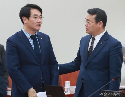 [사진]대화하는 박용진-임채훈 의원