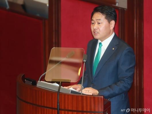 [사진]교섭단체 대표연설하는 김관영 원내애표
