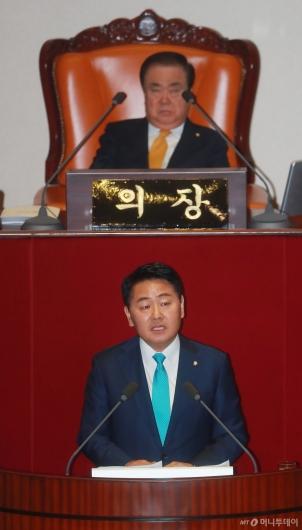 [사진]김관영, 교섭단체 대표연설