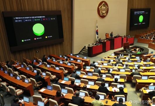 [사진]LPG 규제완화-미세먼지 개정안 국회 통과