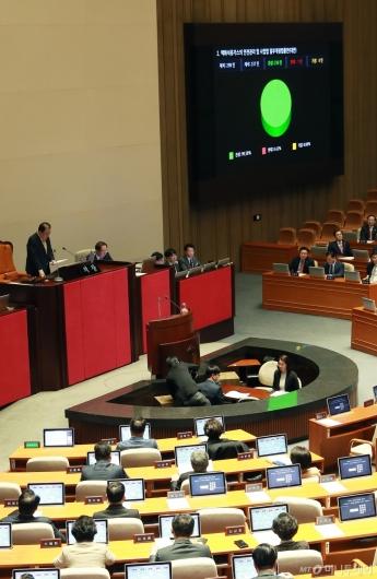 [사진]LPG 규제완화-미세먼지 개정안 국회 본회의 통과