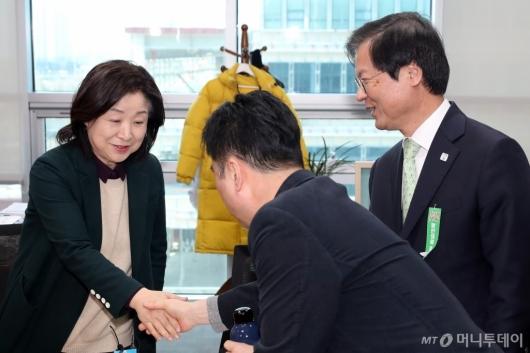 [사진]악수하는 심상정-김종민
