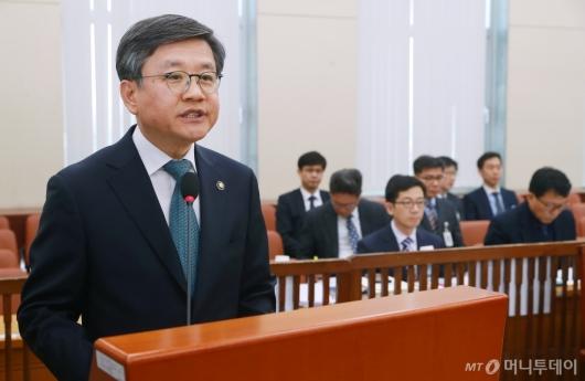 [사진]모두발언하는 김창보 중앙선관위원 후보